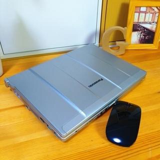 corei5メモリ8Gの超高性能Panasonic★ 美品☆ レッツノート★ 12.1インチの軽量タイプで持ち運びが便利♪ 頑丈堅牢で壊れにくい! パナソニック  DVDドライブ コンパクト軽量  最新Windows10 64Bit 大容量320G シルバー 12.1インチ マウス付き  ノートパソコン 無線LAN Wi-Fi対応  - 売ります・あげます