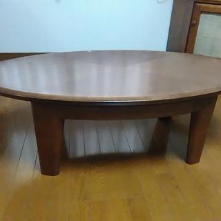 リビングテーブル(ブラウン)楕円形