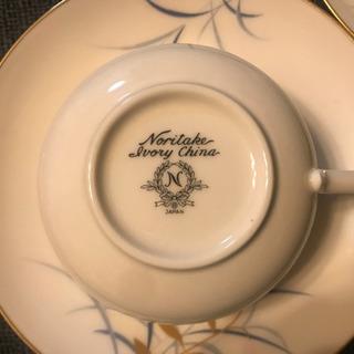 Noritake ivory china ティーカップセット