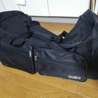 【再値下げ】【ほぼ新品】布地スーツケース/旅行バッグ