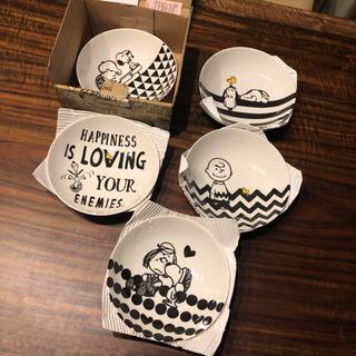 【未使用】ピーナッツ スヌーピー プレート5枚セット ボウルセット - 生活雑貨