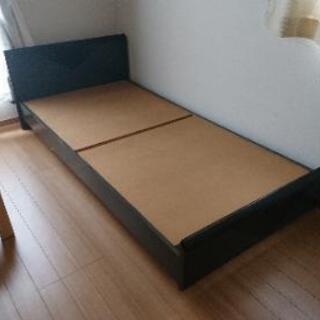 シングルベッド本体のみ 黒
