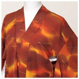 美品 極上 正絹 羽織 高級呉服 橙 斑模様 身丈78 …