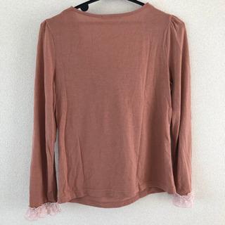 axes femme リボン付き長袖トップス(ピンク) - 富山市
