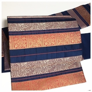 美品 膨れ織 袋帯 極上 逸品 正絹 袋 二重太鼓 作り帯 二部式
