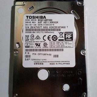 未使用 TOSHIBA MQ01ABF050 500GB