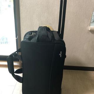 布製 旅行カバン 二輪 キャリーバック