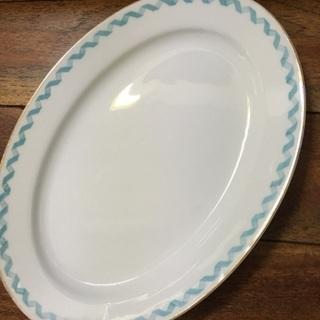名陶硬質磁器製 楕円皿