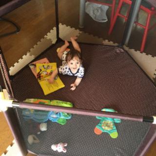 花岡商店 洗えるソフトベビーサークル 5ヶ月~3歳6ヶ月
