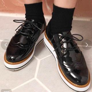 新品未使用 厚底 革靴 24.5 25