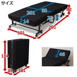 折畳みベッド 高反発マットレス シングルベッド  - 売ります・あげます