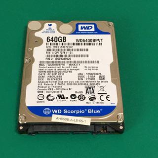WD 640GB 2.5インチ HDD ノートパソコン用
