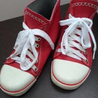 レインシューズ 長靴 S 防水 赤 子ども用にも