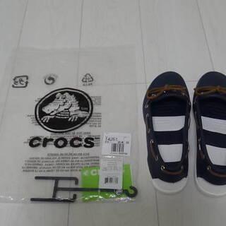 CROCSローファー(夏用、サイズL)新品!