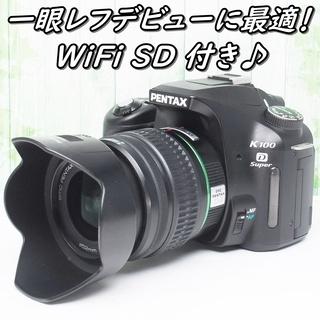 ♪WiFi SD 付き♪スマホに転送OK♪ペンタックス K100...