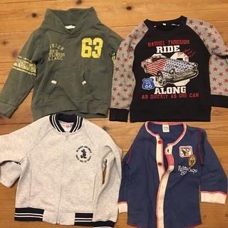 男子110-120秋冬トレーナーとシャツセット7枚 Miki h...