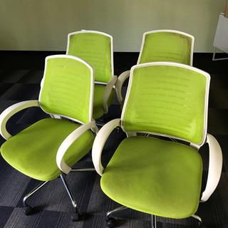 残り2脚オフィスチェア 椅子 メッシュ キャスター付き