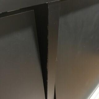 ★成約済★【引き取り優先】ディスプレイラック マガジンラック 1段 ブラック 黒 フラップ扉 オープンラック 本棚 収納 中古 - 売ります・あげます