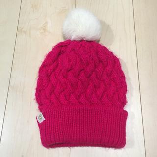 ピンクのニット帽♡