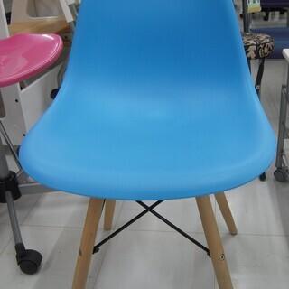 シェルチェア お洒落なチェア 幅:約46cm 青色 苫小牧西店