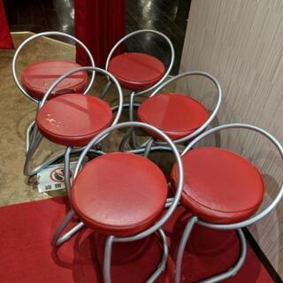 赤い椅子6脚セット
