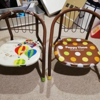 子供用椅子 2個セット 無料 サイズ違い
