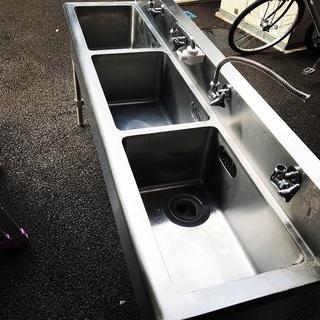 三槽シンク 業務用中古厨房機器 横浜市中区