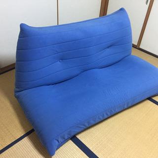 ソファベッド 青