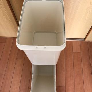 (至急)縦型ゴミ箱、スリム2段34.5L