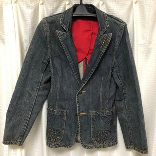 デニムジャケット L ネイビー デザインジャケット