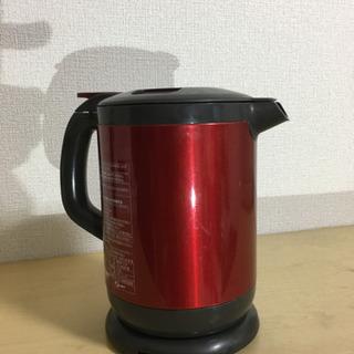 ワインカラーの 電気ポット (象印)湯沸かし専用 でティファール...