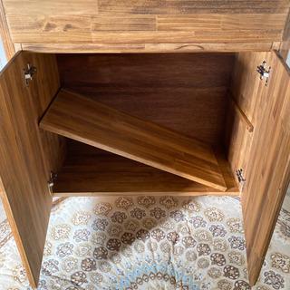 キッチンカウンター C サイズ変更 可能 レンジ 炊飯器 食器棚 収納 ラック - 家具