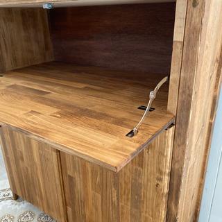 キッチンカウンター C サイズ変更 可能 レンジ 炊飯器 食器棚 収納 ラック − 群馬県