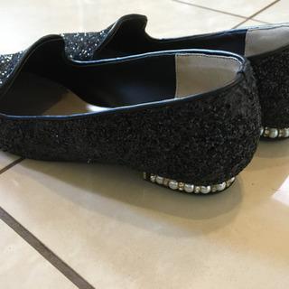 値下げ‼️黒ラメ、パールのお洒落な靴、M - 川崎市