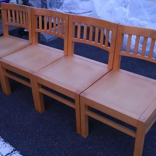木製 椅子 4脚まとめて