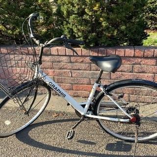 無料です!自転車 シティサイクル 26インチ  シマノ製6段ギア...
