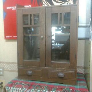 レトロ 木製 小ぶりな本棚 収納 飾り棚 古民具 家具