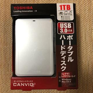 【HDD】TOSHIBA HD-PB10TS ポータブルハードディスク