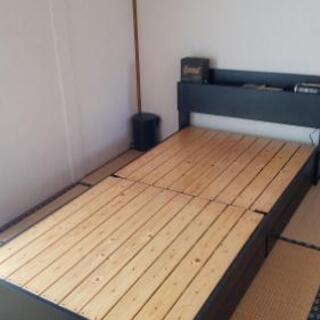 木製ベッド / 分解可能 / スノコ / 引き出し×2 / シングル