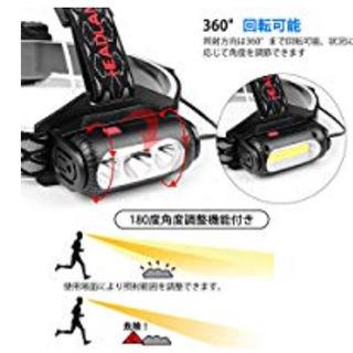 LEDヘッドライト 超高輝度 Jayol USB充電式 両面 ヘ...