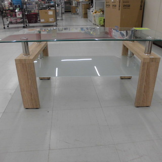 ガラステーブル テーブル お洒落なテーブル 幅:98cm 苫小牧西店