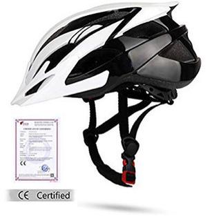 Shinmax自転車ヘルメット LEDヘルッドライト付き