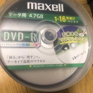 未使用maxell DVD-Rデータ用4.7GB