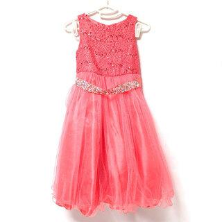 AA038 マイベストキッズ ドレス ピンク ふりふり 1…