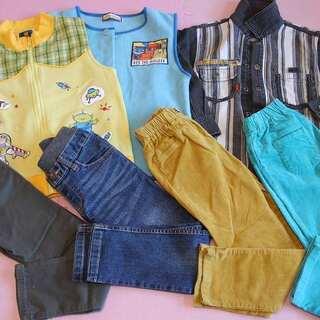 ボトム ズボン 子供服 サイズ120 4本 ベスト 2枚 …