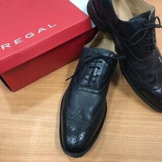 リーガル ビジネスシューズ 革靴 黒 メンズ 26cm MM57