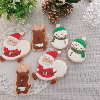 クリスマス・アイシングクッキーレッスン/アイシングの着色体験あり