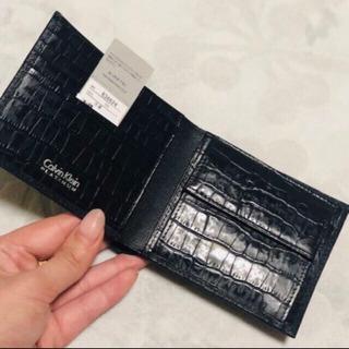 カルバンクライン♡ 二つ折り財布 クロコダイル ユニセックス