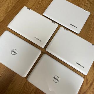 Windows10ノートパソコン5台クリーンインストール済 小型...