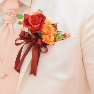 結婚式、新郎用ポケットチーフ